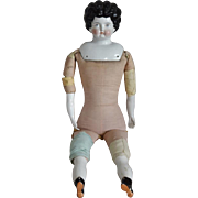 Large German China Head Doll