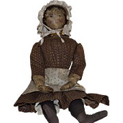 Antique Oil Painted Face Cloth Doll
