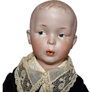 Whistling Jim German Character Bisque Head Doll by Heubach