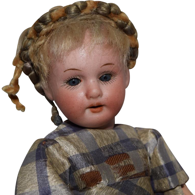 Sweet Petite German Bisque Head Doll