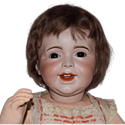 French Bisque Head Character Doll SFBJ 236 Laughing Jumeau