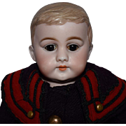 American School Boy German Bisque Shoulder Head Doll