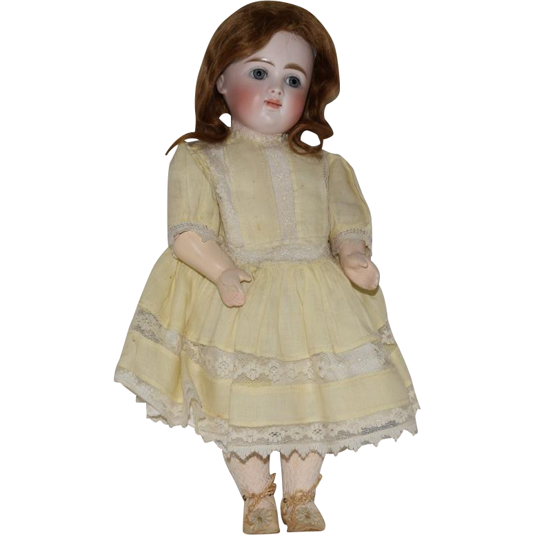 Early Kestner Bisque Head Closed Mouth Doll