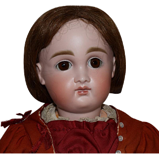 German Bisque Head Closed Mouth Character Doll by Kestner