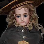 French Bisque Head Poupee Peau Fashion Doll by Jumeau