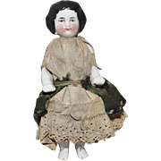 German Glazed Porcelain China Frozen Charlotte Bathing Doll