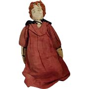 Hand Made Cloth Doll with Red Yarn Hair