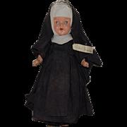 "Composition Nun Doll ""Sister Genevieve"" In Original Habit Costume"
