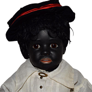 Simon & Halbig Black German Bisque Head Character Doll