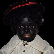 Simon & Halbig Black German Bisque Head Character Doll