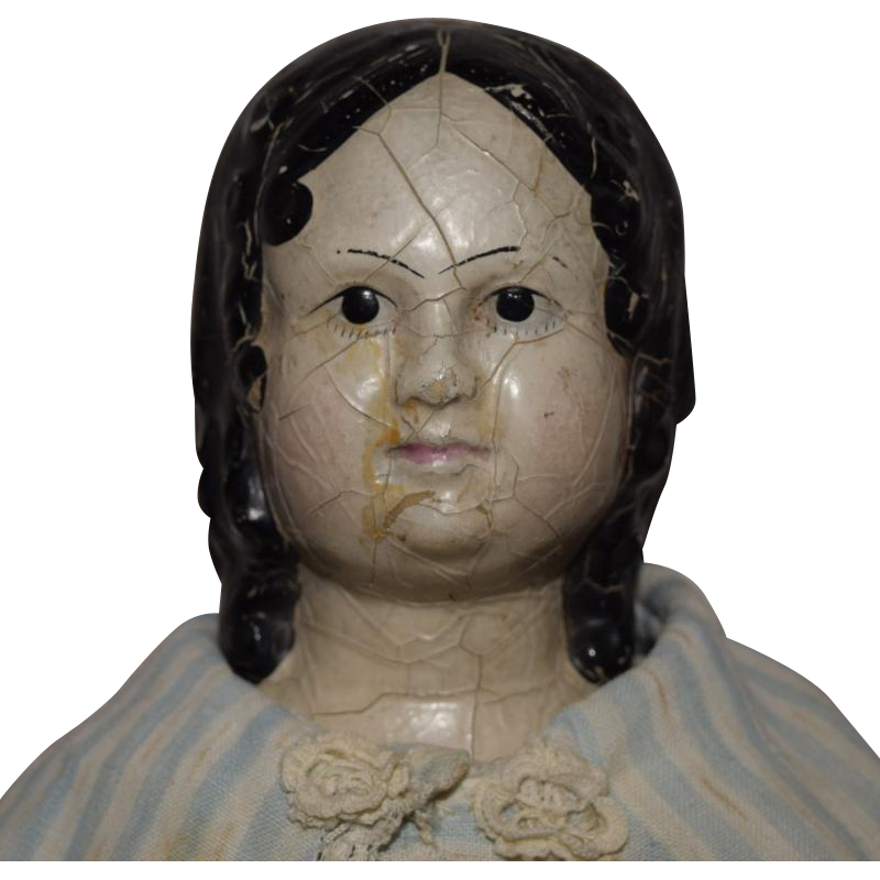 Early And Rare Rubber Head Doll From Joan