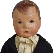 Kathe Kruse German Cloth Boy Doll in Tuxedo Costume