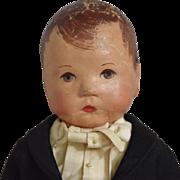 Kathe Kruse German Cloth Boy Doll in Tuxedo Costume