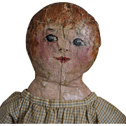 Sweet Cloth Doll with Oil Painted Head