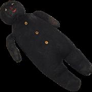 Black Silk Stocking Cuddly Doll