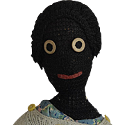 Black Knitted Yarn Doll