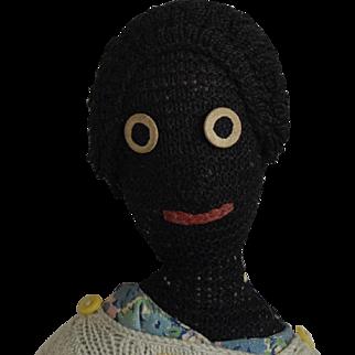 Black Knitted Yarn Doll