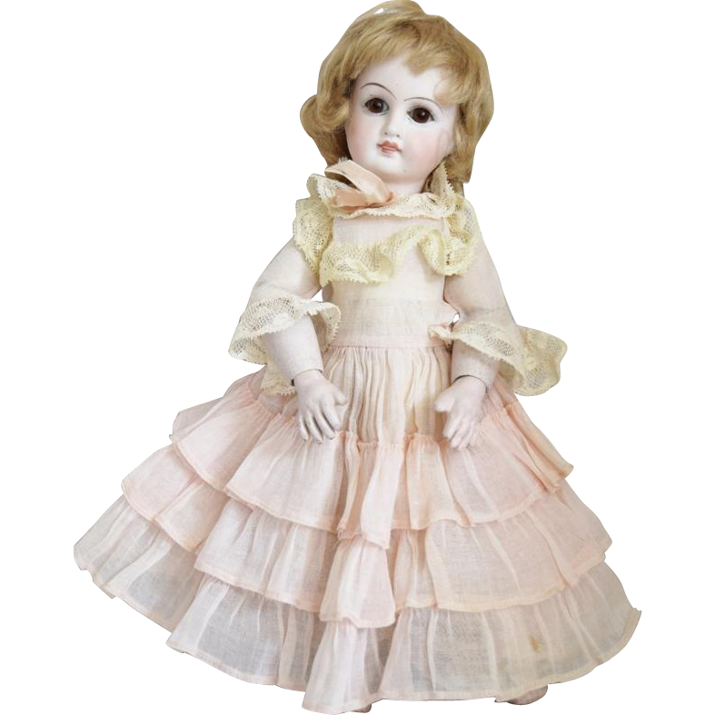 German Belton Type Bisque Head Doll Made for the French Market