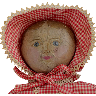Rare Maggie Bessie Oil Painted Cloth Doll