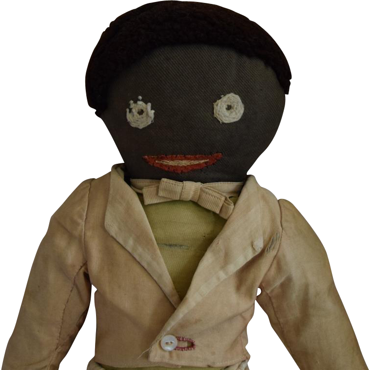 Brown Cotton Hand Made Cloth Doll