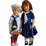 Lillian & Arthur, R. John Wright Limited Edition Felt Artist Dolls