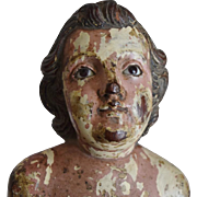 Early Carved Wooden Figurine