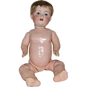 German Bisque Head Character Baby by Armand Marseille