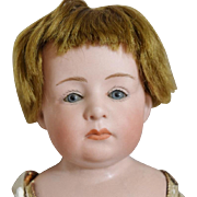 Glass Eye Character Pouty Bisque Head Gebruder Heubach Doll