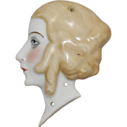Flat Back China Lady Head in Profile