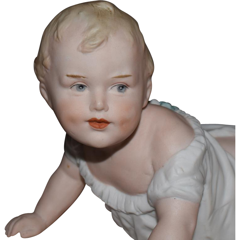 Large All Bisque Heubach Piano Baby
