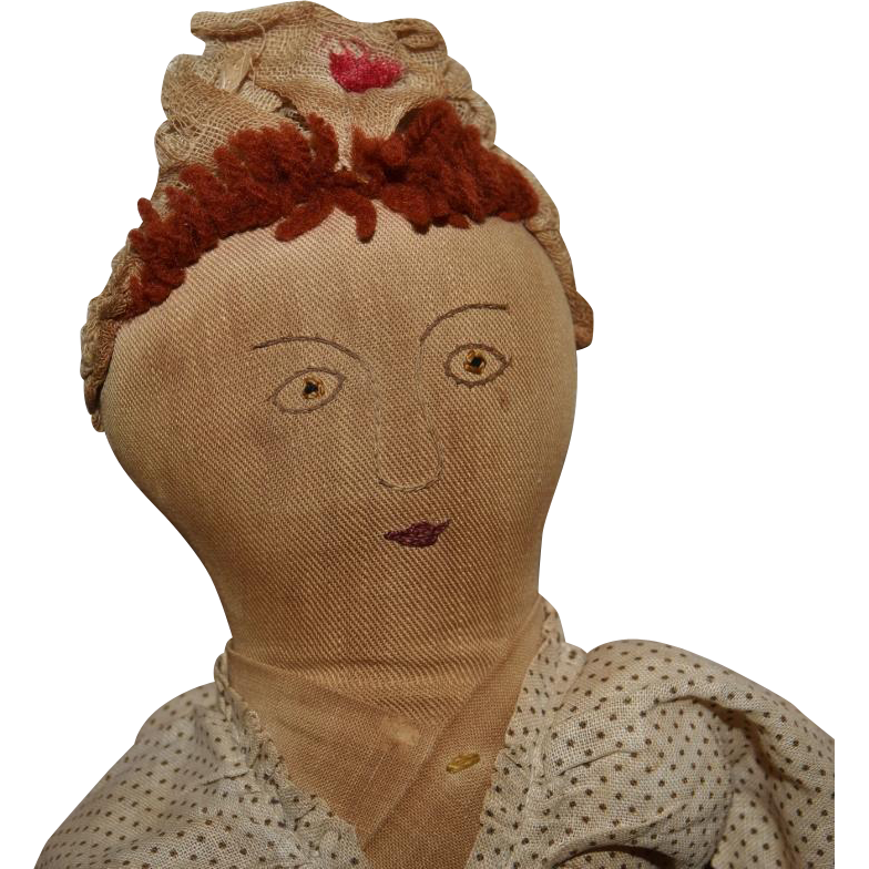Great Early Cloth Topsy Turvy Doll