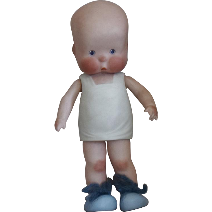 All Bisque German HEbee Character Doll