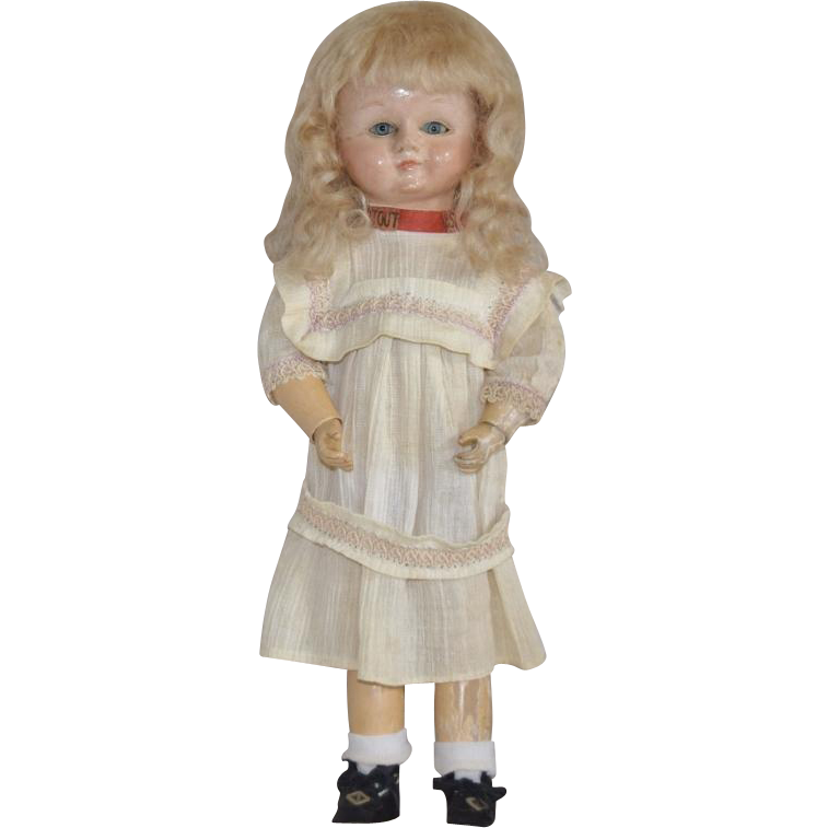 French Bebe Tout en Bois All Wooden Doll