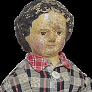 Sonneberg Type Papier Mache Doll