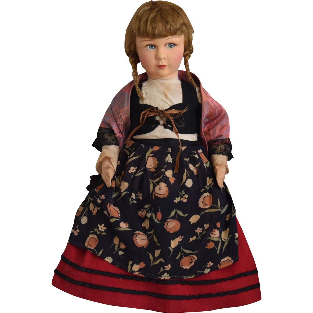 French Raynal Cloth Doll in Original Provincial Costume