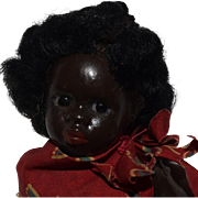 Petite German Bisque Black Bisque Head Character Doll