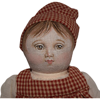 """Completed Cloth Doll Kit, """"Effie"""" by Susan Fosnot"""