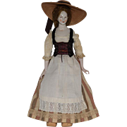 China Head Doll with Molded Breasts and Delicate Hands
