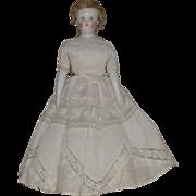 German Glazed Bisque China Shoulder Bald Shoulder Head Doll by Kestner