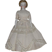 German Glazed Bisque China Shoulder Bald Shoulder Head Doll by Kestner