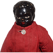 German Black China Head Doll with Ethnic Features