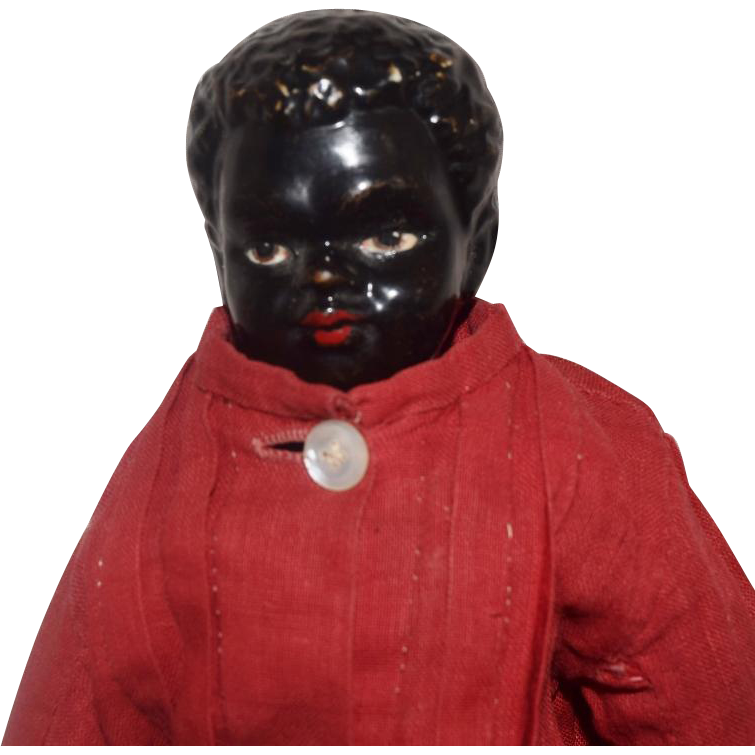 German Black China Head Doll With Ethnic Features From Joan Lynetteantiquedolls On
