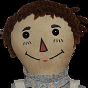 Volland Cloth Early Raggedy Ann Doll