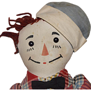 Volland Cloth Early Raggedy Andy Doll