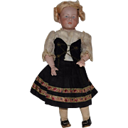 "German Bisque Head Character Doll in ""Marie"" by Kammer & Reinhardt"