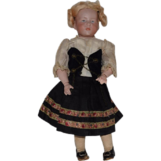 """German Bisque Head Character Doll in """"Marie"""" by Kammer & Reinhardt"""