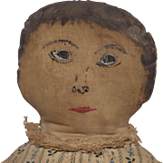 Painted Face Primitive Cloth Doll