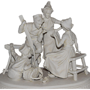 German Parian Bisque Vignette