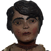 Antique Jointed Wooden Doll