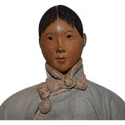 Door of Hope Chinese Wooden Head Lady Doll